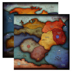 Oversized 3-5 Player Earth Map (CW-M13)