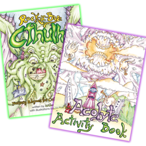 Rock-A-Bye Cthulhu and Acolyte Activity Book Bundle