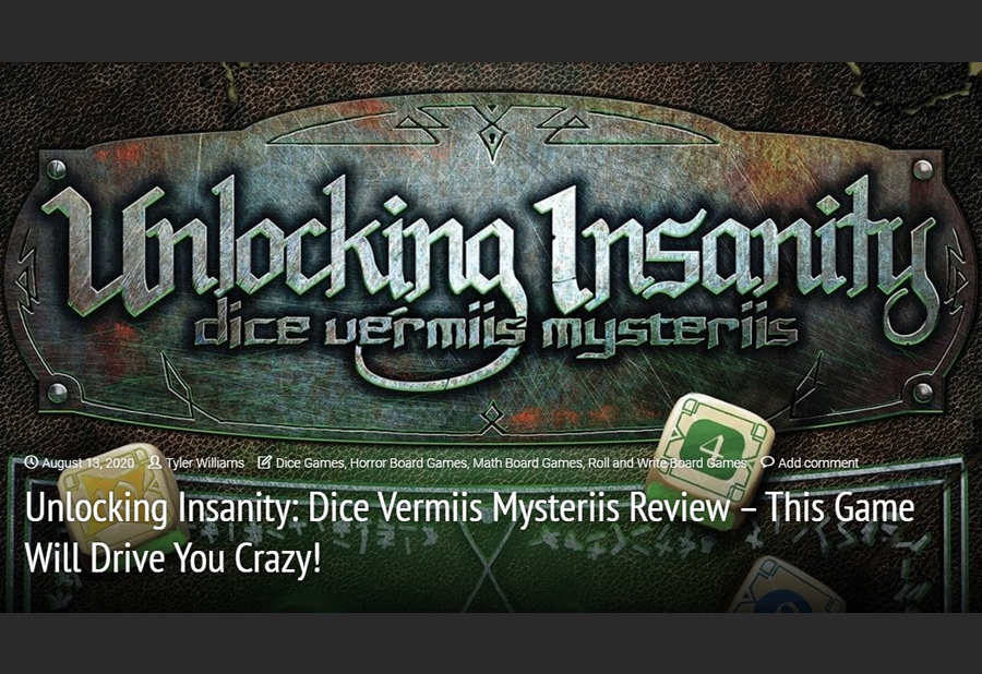 Meeple Mountain Reviews Unlocking Insanity
